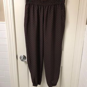 Women's/Junior's XL printed Jogger pants w/pockets